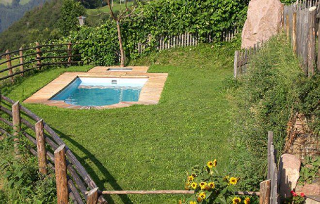 Swimmingpool con vista panoramica alll'agriturismo
