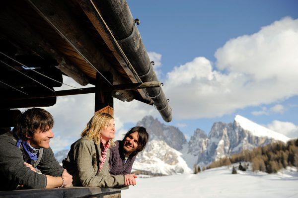 Ausflug im Winter auf der Seiser Alm