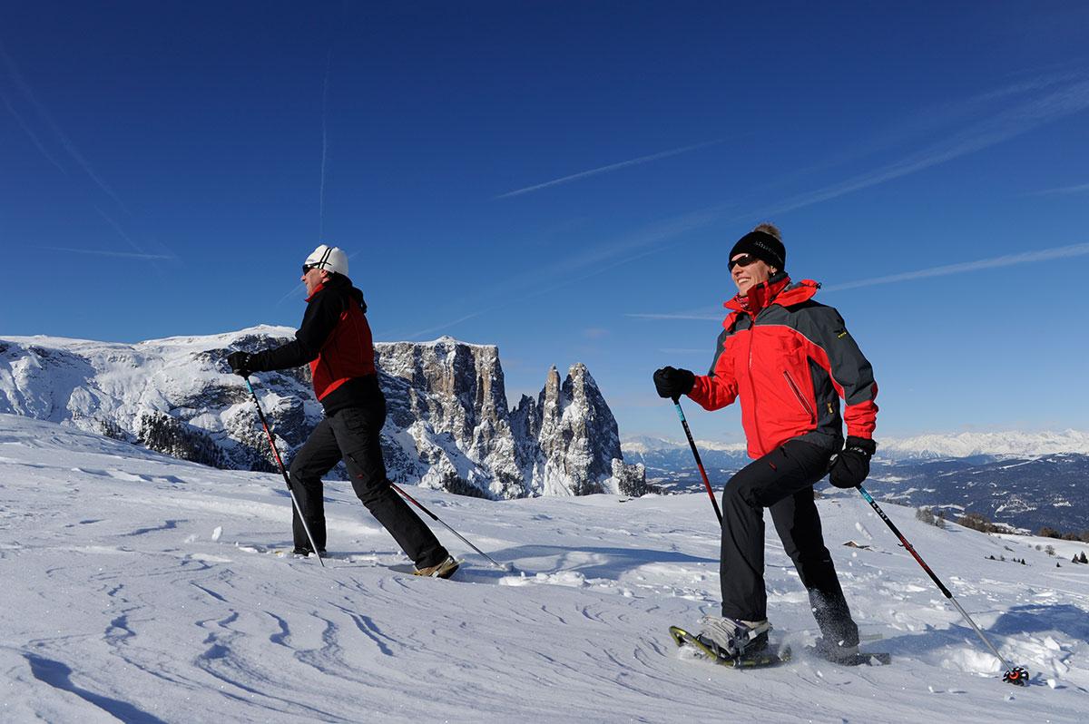 Schneeschuhwandern auf der Seiser Alm