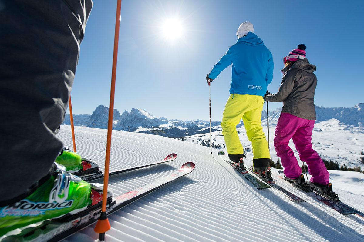 Skifahren in den Dolomiten - Sellaronda - Seiser Alm